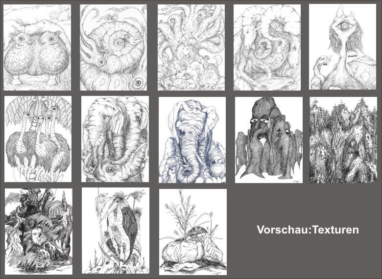 KUNSTdownload - Bild-Themen - Zeichnen - Texturen